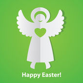 Happy-Easter!-print-angel — Stock Vector