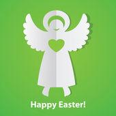 Happy-Easter!-print-angel — Stock Vector