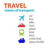 Means-of-transport — Stock Vector