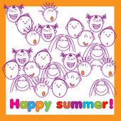 Happy-summer-holiday — Stock Vector