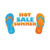 Caliente-venta-verano — Vector de stock