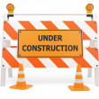 Under Construction traffic barricade — Stock Photo #15439393