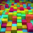 Abstract colorful cubes — Stock Photo