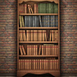 Old bookshelf in room — Stock Photo #24640069