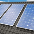 Solar panels on roof — Stock Photo #25785801