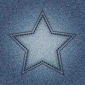 Blue jeans ster — Stockvector