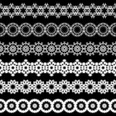 Seamless lace border — Stock Vector