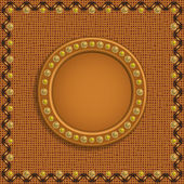Brown frame on background — Stock Vector