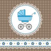Baby boy shower — Stock Vector