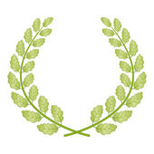 Oak wreath — Stock Vector