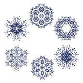 Snowflake symbol — Stock Vector