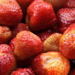 Fresh strawberries, red berries. Group of berries close up. — Stock Photo #13656216