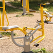 Playground in a city park. Fitness equipment available. — Stok fotoğraf