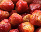 Fresh strawberries, red berries. Group of berries close up. — Stock Photo