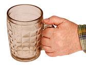 Bierkrug in der hand. — Stockfoto
