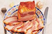 A piece of smoked pork. — Stock Photo