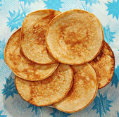 Pancakes on the table. — Stock Photo