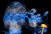 Fire and smoke color — Stock Photo