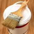 Bucket of paint and brush. — Stock Photo #21729329