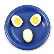 Egg on a plate. — Stock Photo