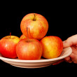 Apples on a plate. — Stock Photo