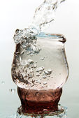 A glass of water. — Stock Photo