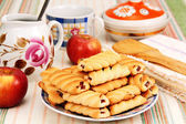 Cookies and apples. — Stock Photo