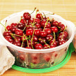 Bowl of cherries. — Stock Photo