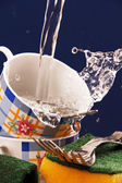 Washing of cups of tea. — Stock Photo