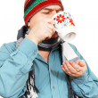 Man with a cup of tea. — Stock Photo
