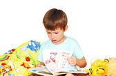 Boy reading a book. — Zdjęcie stockowe