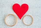 Paar ringen — Stockfoto