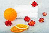 Spa in orange colors — Stock Photo