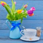 Tea in blue — Stock Photo #22524053