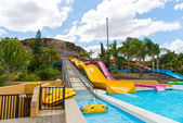 Water park slides — Stockfoto
