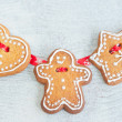 Christmas gingerbread figures — Stock Photo