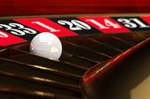 Casino Roulette Game with ball — Stock Photo
