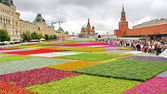 Flower Festival in Red Square in Moscow — Stock Photo