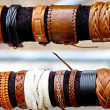 Stock Photo: Handcrafts colorful bracelets