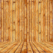 Old brown wood texture room background — Stock Photo