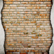 Old cracked brick wall background — Stock Photo