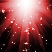 Shining rays and stars. Christmas background — Stock Photo