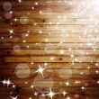 Stock Photo: The brown wood texture with natural patterns and flying stars.