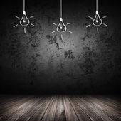 暗い部屋のインテリア — ストック写真