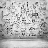 Business sketches background — Stock Photo