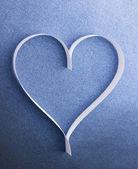Valentine's paper heart — Stockfoto