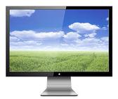 Monitor de computador com a natureza — Fotografia Stock