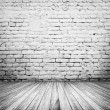 Vintage room interior  with white brick wall — Stock Photo #44789961