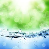 Water and air bubbles — Stock Photo