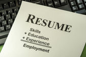 Successful Employment Concept With Desired Resume Formula — Stock Photo